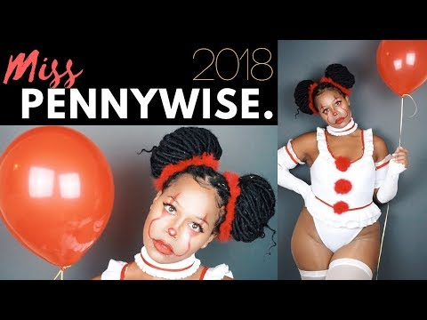 MISS IT  PENNYWISE MAKEUP | HALLOWEEN PARTY GRWM