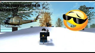 Taking down the helicopter in barren beta | Roblox | Supply crate items |