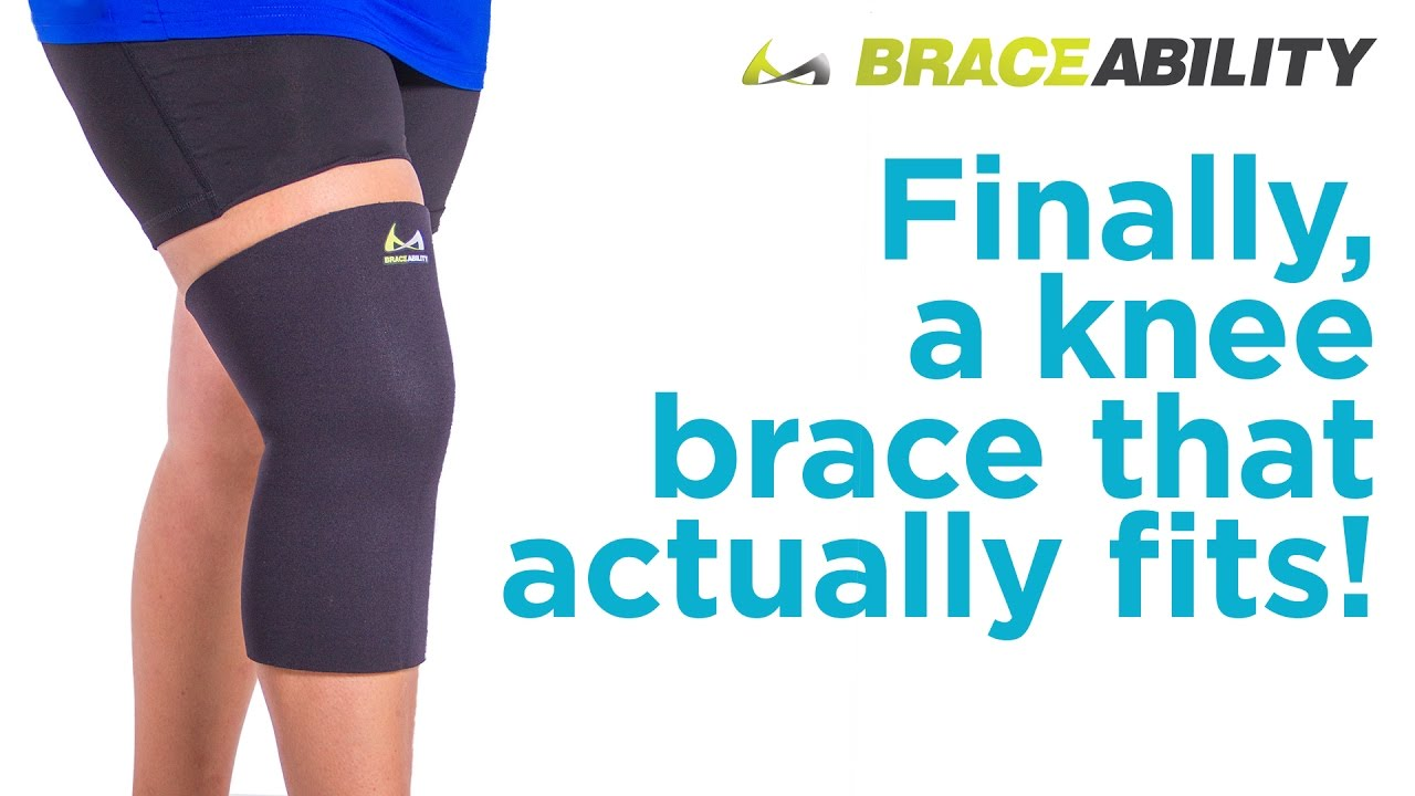 5d11c72420 Can't Find a Knee Brace that's Big Enough? Try BraceAbility's Plus Size Knee  Sleeve