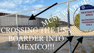 U.S BOARDER CROSSING TO MEXICO!! NEW WALL BEING BUILT(SAN LUIS MEXICO) 4K walk through