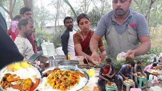 Famous Aunty Roadside Unlimited Meals|Hyderabad Street Food Videos |#ChickenRice,#BotiRice,#FishRice