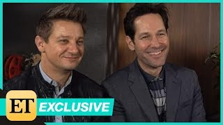 ET spoke with Rudd and his co-star Jeremy Renner at the 'Avengers: Endgame' press day in Los Angeles. The Marvel movie hits theaters on April 26.