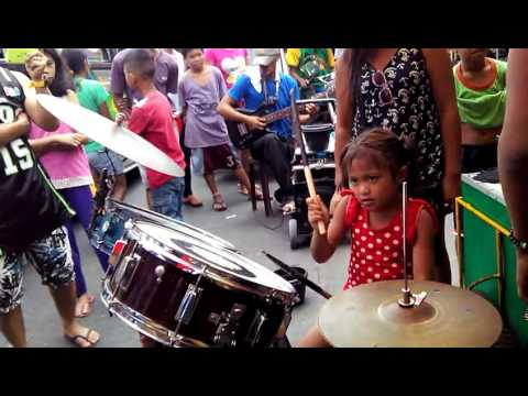 She May Look Hungry but Her Talent Excelled in Drums