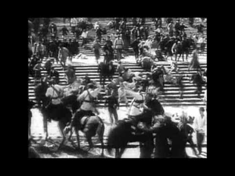 """battleship potemkin montage In year 1925, the twentieth anniversary of the 1905 russian revolution, a piece of cinema history was created commissioned by the government to commemorate the twenty year anniversary, sergei eisenstein directed the film """"bronenosets potyomkin"""" (""""battleship potemkin""""."""