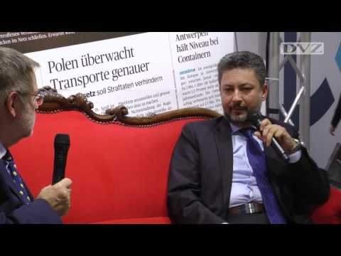 transport logistic 2017: Turhan Ozen on the Red Sofa of DVZ