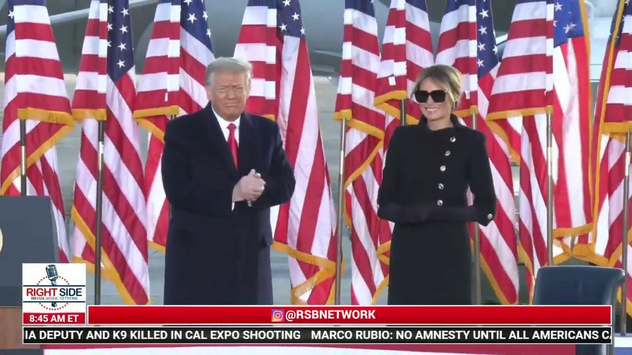 LIVE: President Trump Speaks at Sendoff Ceremony at Joint Base Andrews/Arrival in FL 1/20/21