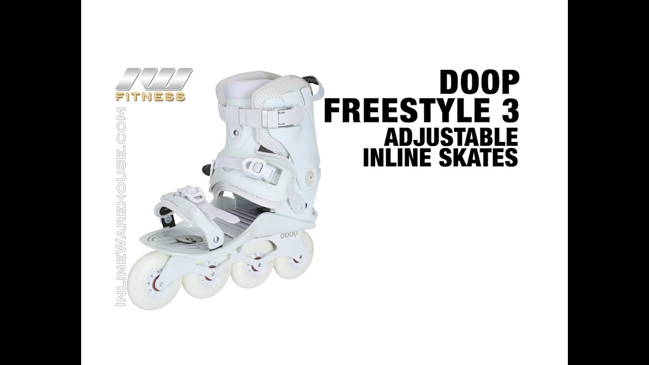 doop freestyle 3 adjustable inline skates review youtube. Black Bedroom Furniture Sets. Home Design Ideas