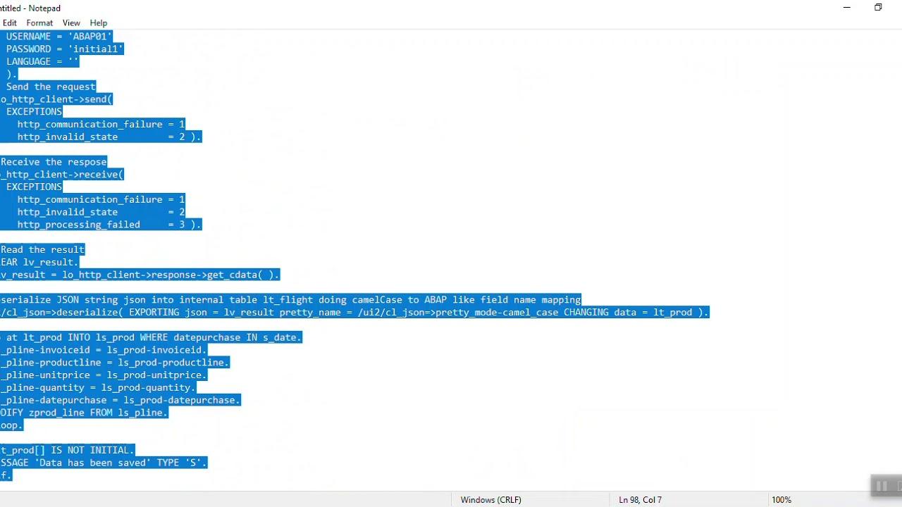 Download SAP ABAP get data from Google Spreadsheet using Python