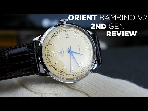 Orient Bambino V2 2nd Gen Review | With Hacking & Hand Winding | Best Dress Watch Under $200?
