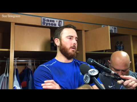 Sam Dyson dissects his troubles after Rangers' loss Tuesday