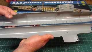 Revell 1/200 USS George Washington Renwal Model Kit Open Box Review