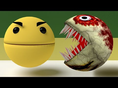 Pacman Vs Zombie Pacman [The Fight]