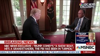 Trump Interview With Lester Holt: President Asked Comey If He Was Under Investigation - May 11, 2017