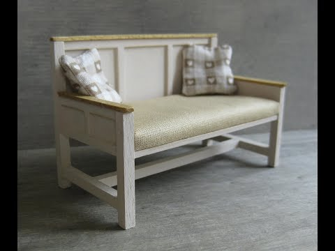 1/12th Scale Sofa Tutorial
