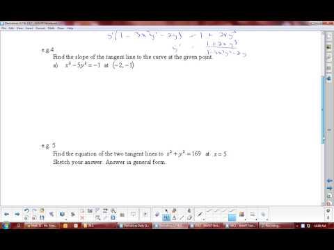 U2L7 Derivatives: Implicit Differentiation Calculus Math 31