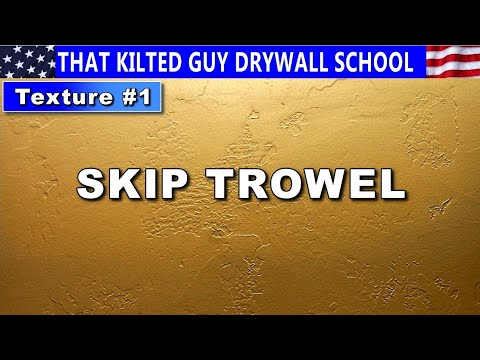Skip Trowel Drywall Texture Secrets Revealed By 30 Year Drywall Professional. Texture Series Video