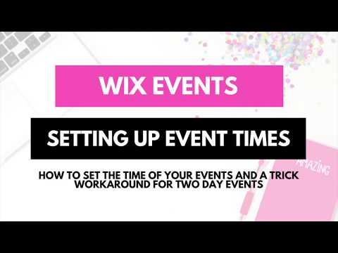 Wix Bookings -  Event Times Tutotial