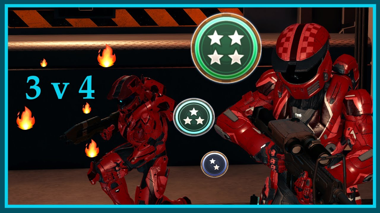 Halo 5 - 3v4 Champion Slayer Solo Q Gameplay w/ Overkill Ending!