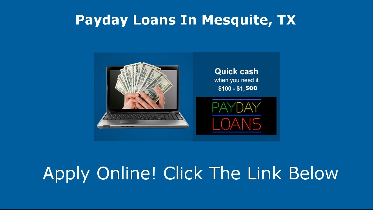 Online Payday Loans Mesquite Texas