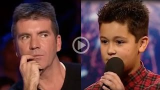 Repeat youtube video 12 Year Old Boy Humiliates Simon Cowell