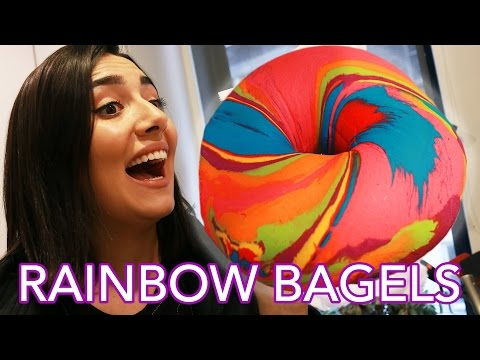 We Tried Instagram Rainbow Bagels • Saf & Tyler