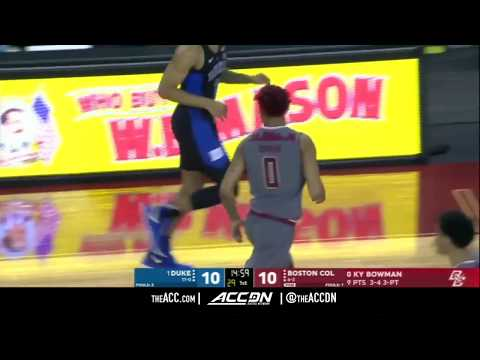 Duke vs Boston College Basketball Condensed Game 2017