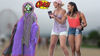 SCARY HALLOWEEN GHOST PRANK #4👻 - AWESOME REACTIONS