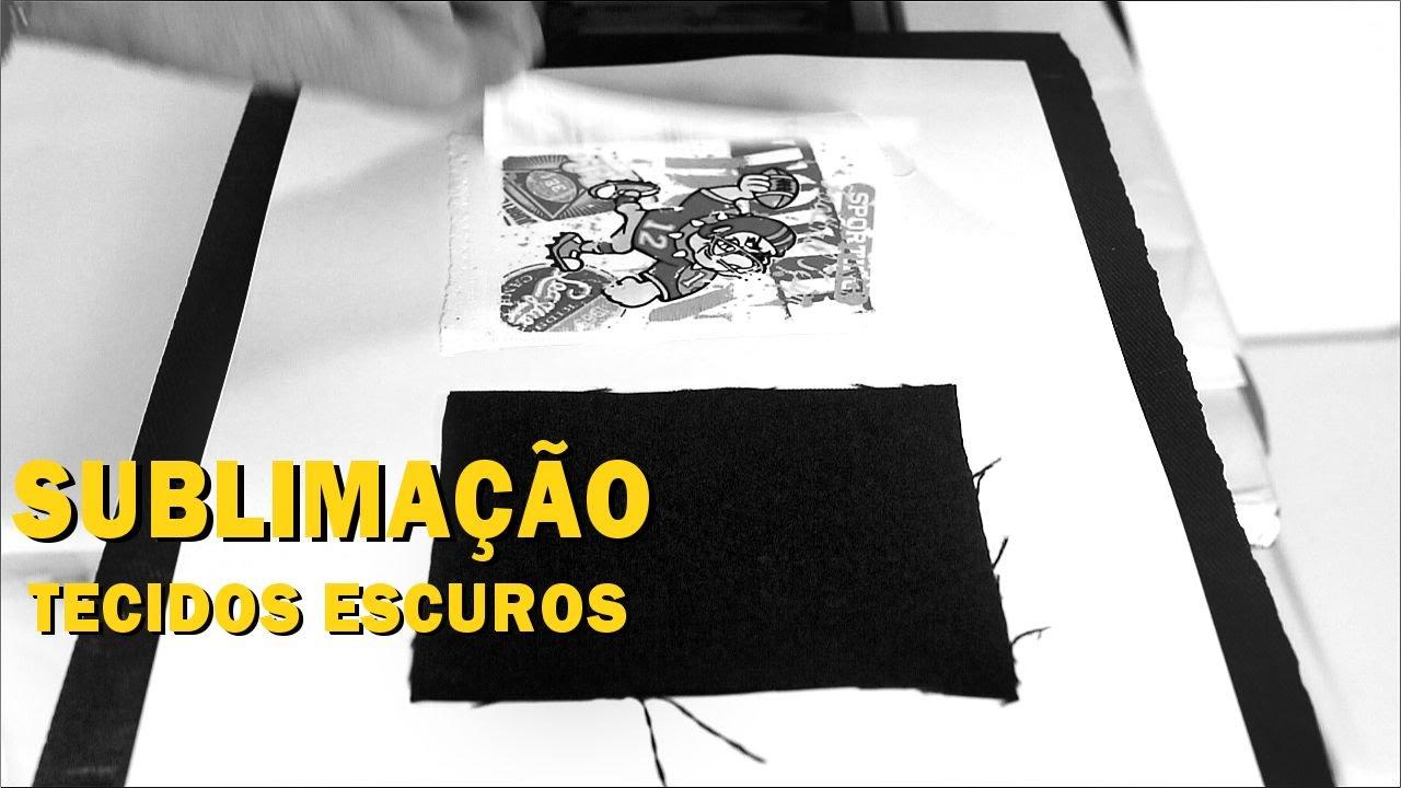 Como fica a Sublimação em Tecido Escuro - Sublimação em Camisa de cor.  Tecido Preto - YouTube 36674b2a53027