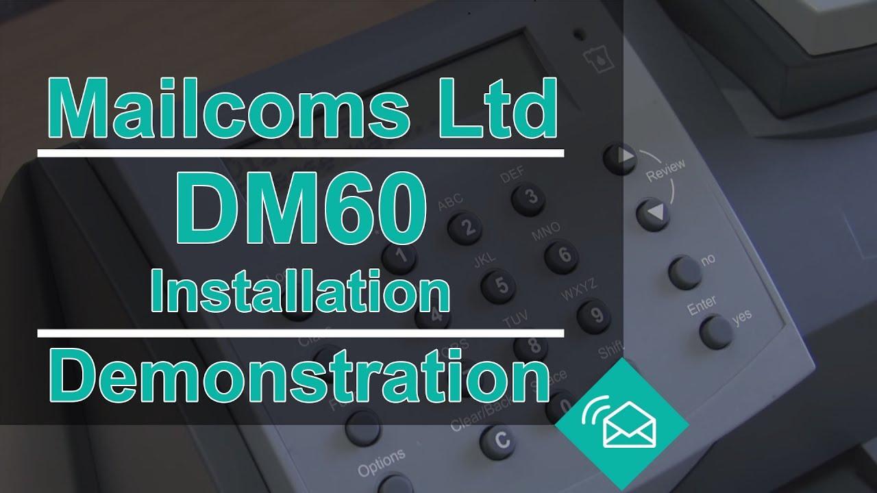 DM60 Franking Machine Installation Guide
