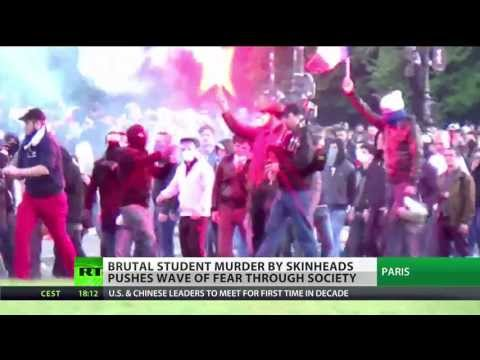 France's fascism fear as activist killed in skinhead attack