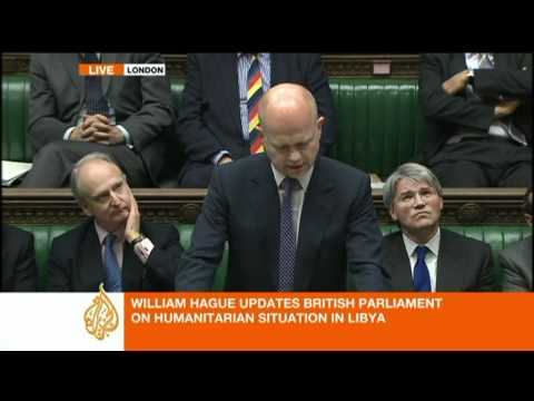 British Foreign Minister William Hague on Libyan crisis