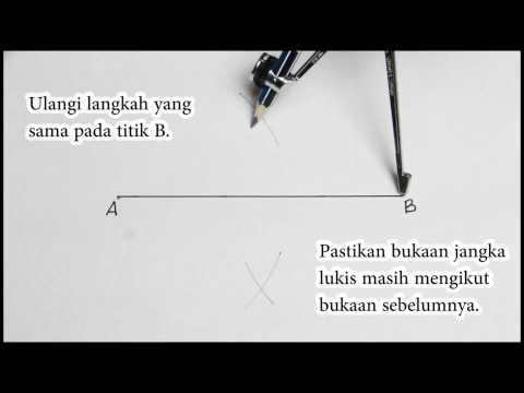 Matematik Tingkatan 2 Pembinaan Geometri Membina Pembahagi Dua Sama Serenjang Youtube