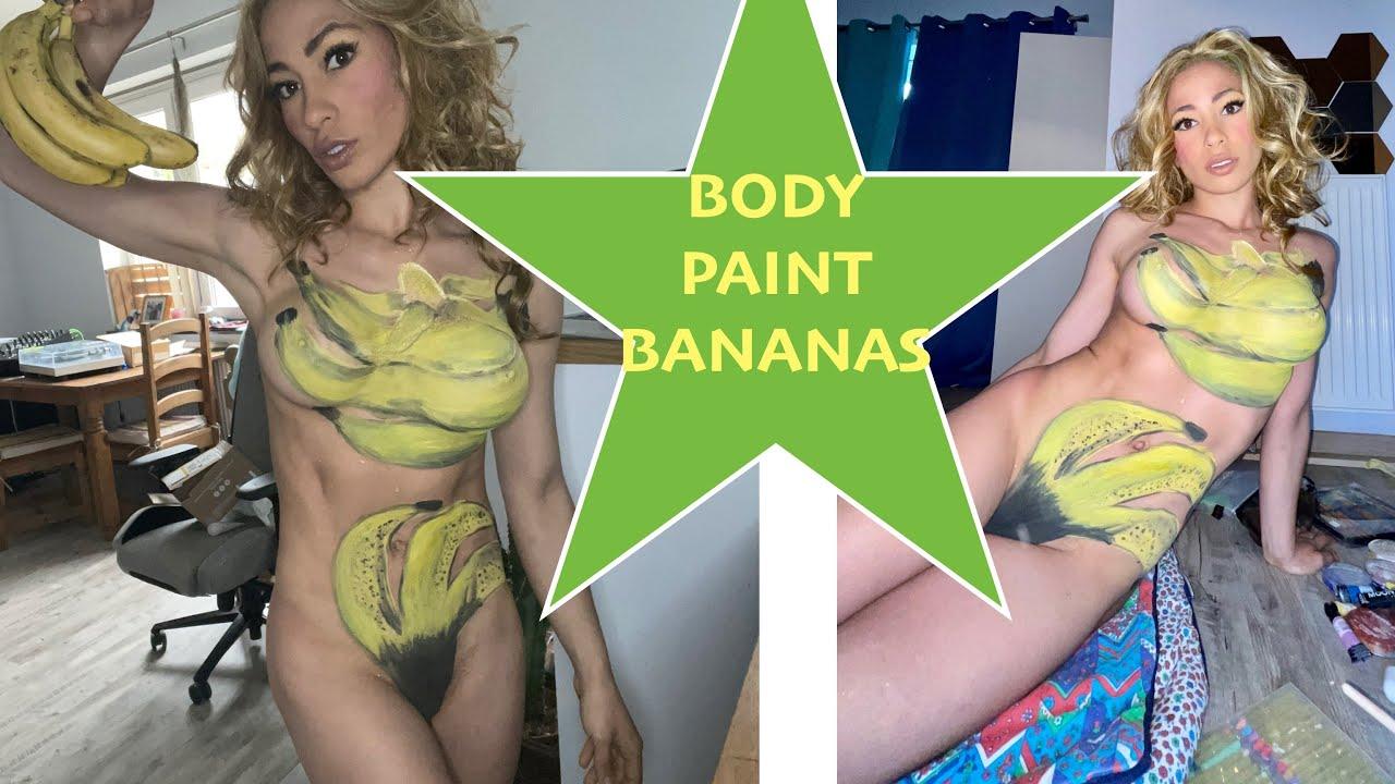 Bunch Bananas BodyPaint \\ BodyPainting Tutorial \\ Art Make Up Tutorial Bananas