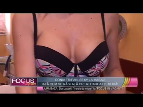 Sonia Trifan, sexy la masaj!