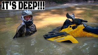 Brian and his Can Am Outlander VS a Big Ole Texas Mud Hole!