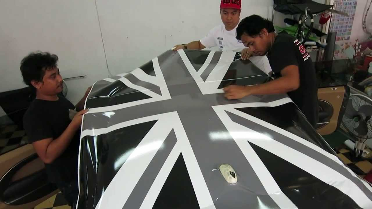 Mini Cooper S Uk Roof Decoration By Tony Wrap Www Tonywrap