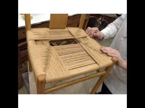 Encordado de sillas youtube - Materiales para tapizar una silla ...
