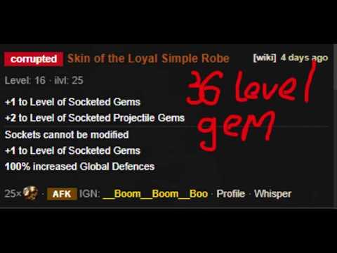 [Path Of Exile 3.8] Saboteur - Ethereal Knives 36 Level Gem