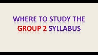 Where to Study the Group 2 Syllabus - TNPSC STUDY PLAN