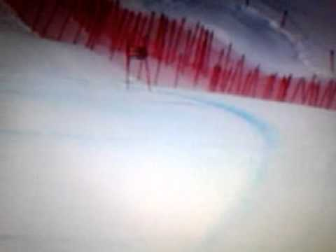 Marusa Ferk Violent fall 2010 SG St.Moritz