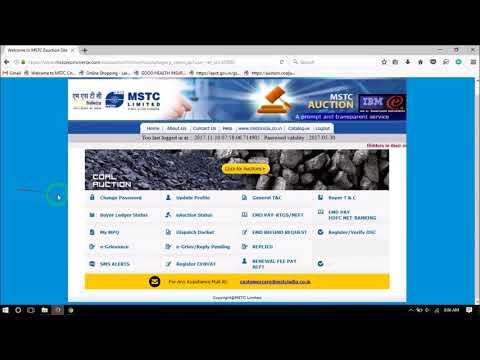 MSTC EMD PAYMENT ONLINE AND OFFLINE