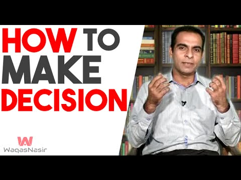 How to Make Good Decisions - By  Qasim Ali Shah | Kamyabi Aa