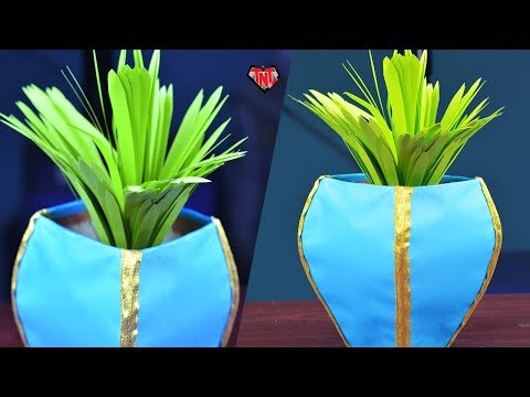 How To Make Paper Grass Easy | DIY Home Decor Idea | Easter Potted Grass