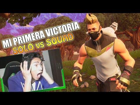 Mi primera VICTORIA en SOLO vs SQUAD !! - Fortnite