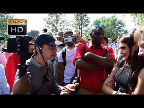 Islamic Problems? Mansur & Female Visitor to the Park | Speakers Corner | Hyde Park