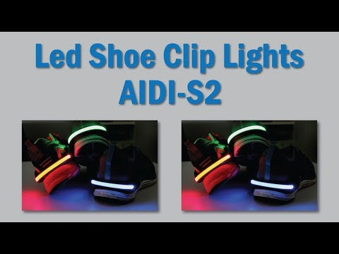 Night Runner Safety Led Light Up Shoe Clips AIDI-S2