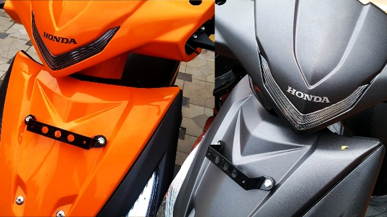 2017 Honda Dio Facelift with LED Lights Vibrant Orange and Matte Axis Grey Metallic - YouTube