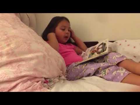 Ella Reads frog in the kitchen sink