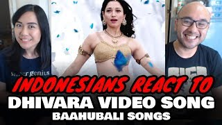 Indonesians React To Baahubali Songs   Dhivara Video Song   Prabhas, Anushka Shetty,Rana,Tamannaah