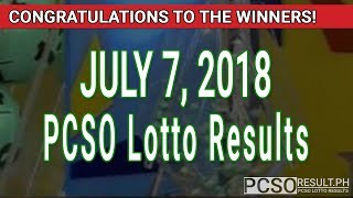 PCSO Lotto Results Today July 7, 2018 (6/55, 6/42, 6D, Swertres, STL & EZ2)